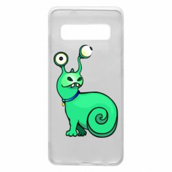 Чехол для Samsung S10 Green monster snail