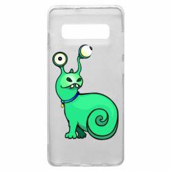 Чехол для Samsung S10+ Green monster snail