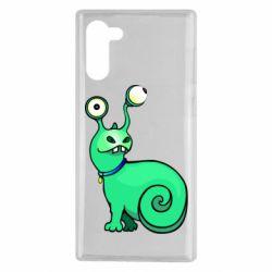 Чехол для Samsung Note 10 Green monster snail