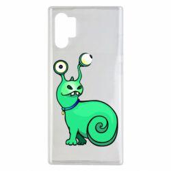 Чехол для Samsung Note 10 Plus Green monster snail