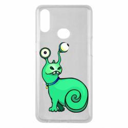 Чехол для Samsung A10s Green monster snail