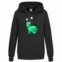 Женская толстовка Green monster snail