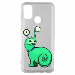 Чехол для Samsung M30s Green monster snail
