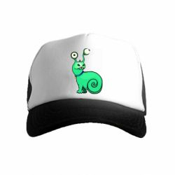 Детская кепка-тракер Green monster snail