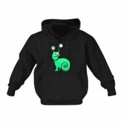 Детская толстовка Green monster snail