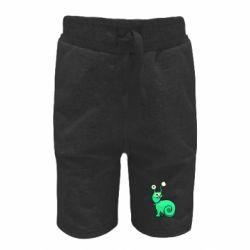 Детские шорты Green monster snail