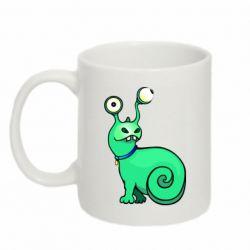 Кружка 320ml Green monster snail