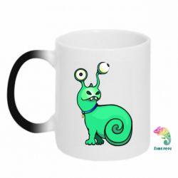 Кружка-хамелеон Green monster snail