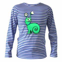 Тельняшка с длинным рукавом Green monster snail