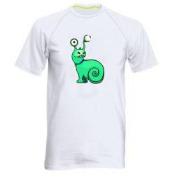 Мужская спортивная футболка Green monster snail