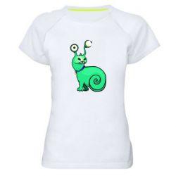 Женская спортивная футболка Green monster snail