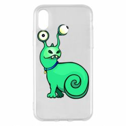 Чехол для iPhone X/Xs Green monster snail