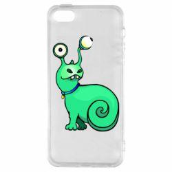 Чехол для iPhone5/5S/SE Green monster snail