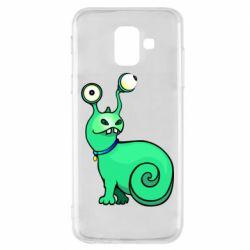 Чехол для Samsung A6 2018 Green monster snail