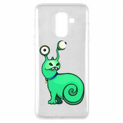Чехол для Samsung A6+ 2018 Green monster snail