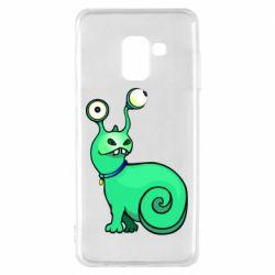 Чехол для Samsung A8 2018 Green monster snail