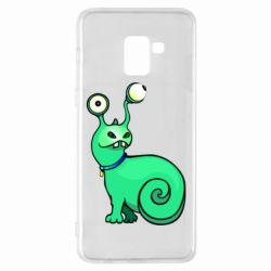 Чехол для Samsung A8+ 2018 Green monster snail