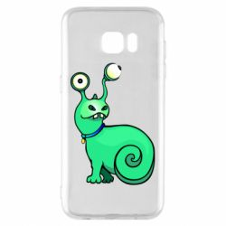 Чехол для Samsung S7 EDGE Green monster snail
