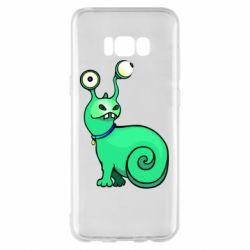 Чехол для Samsung S8+ Green monster snail