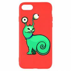 Чехол для iPhone 8 Green monster snail