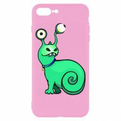 Чехол для iPhone 8 Plus Green monster snail