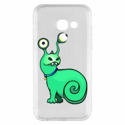 Чехол для Samsung A3 2017 Green monster snail