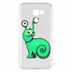 Чехол для Samsung A7 2017 Green monster snail