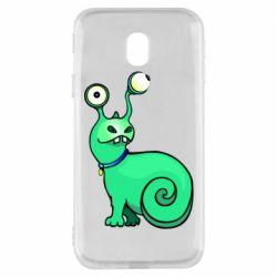 Чехол для Samsung J3 2017 Green monster snail