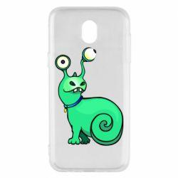 Чехол для Samsung J5 2017 Green monster snail