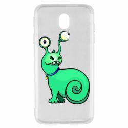 Чехол для Samsung J7 2017 Green monster snail