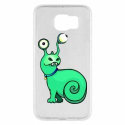 Чехол для Samsung S6 Green monster snail