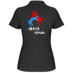 Женская футболка поло Греко-римская борьба - FatLine