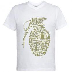 Чоловіча футболка з V-подібним вирізом Grenade Art