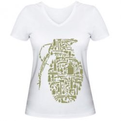 Жіноча футболка з V-подібним вирізом Grenade Art