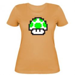 Женская футболка Гриб Марио в пикселях