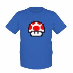 Детская футболка Гриб Марио в пикселях
