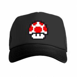 Кепка-тракер Гриб Марио в пикселях - FatLine