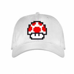 Детская кепка Гриб Марио в пикселях - FatLine