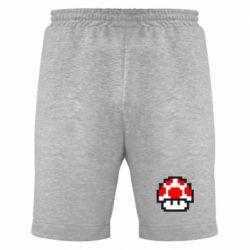 Мужские шорты Гриб Марио в пикселях - FatLine