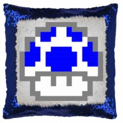 Подушка-хамелеон Гриб Марио в пикселях