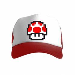 Детская кепка-тракер Гриб Марио в пикселях