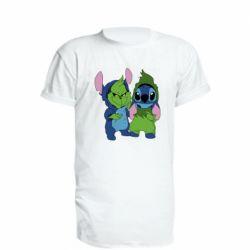 Подовжена футболка Грінч і Стіч