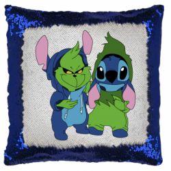 Подушка-хамелеон Грінч і Стіч