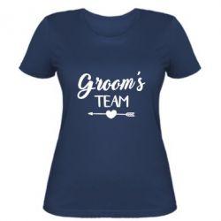 Женская футболка Groom's team