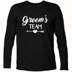 Купить Футболка с длинным рукавом Groom's team, FatLine