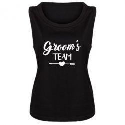 Женская майка Groom's team