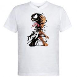 Чоловіча футболка з V-подібним вирізом Groot and Venom