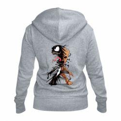 Жіноча толстовка на блискавці Groot and Venom