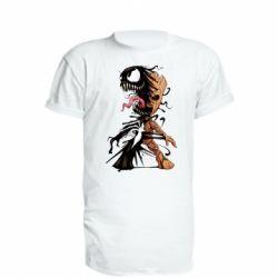 Подовжена футболка Groot and Venom