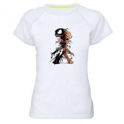 Жіноча спортивна футболка Groot and Venom